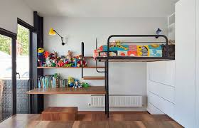 Space Saving Kids Bedroom Custom Design Turns The Floor Into Toy Storage Space