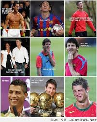 Funny Memes Soccer - messi my favourite football player and ronaldo the show off