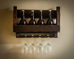 decor astonishing wall wine rack natural dark stained wood with