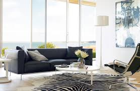 Cowhide Rug In Living Room Edelman Leather Zebra Cowhide Rug Design Within Reach