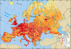 Map Of The Europe by Online Maps Europe Population Density Map