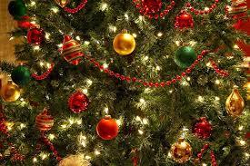 tree decoration gold green image 244466