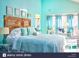Tables Made From Doors by Vintage Cottage Charm Headboard Made From Door Aqua Walls