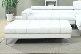 White Fur Ottoman by White Ottoman Chair Leather Pouf Marble Tray 25262 Interior Decor