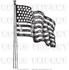 Waving American Flag Waving American Flag Drawing