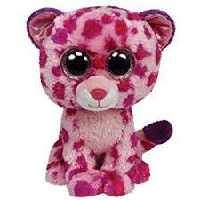 amazon ty beanie boos buddies leona blue leopard medium plush