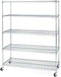 5 Tier Wire Shelving by Amazon Com Trinity 5 Tier Nsf Heavy Duty X Large Wire Shelving