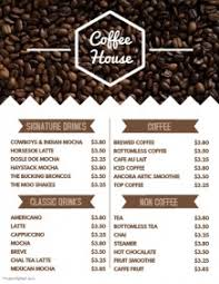 customizable menu templates customizable design templates for coffee menu template postermywall