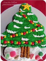 Christmas Tree Cake Decorations Ideas by Christmas Tree Cupcake Cakes U2013 Happy Holidays