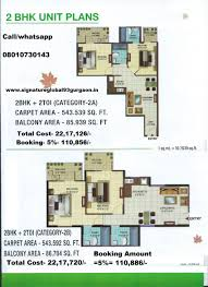 2bhk floor plan signature global orchard avenue sector 93 gurgaon price floor