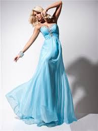 a line princess sweetheart long light blue chiffon evening prom