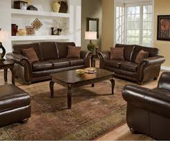 Leather Living Room Chairs Vintage Soft Bonded Leather Sofa U0026 Loveseat Set W Flair Arms