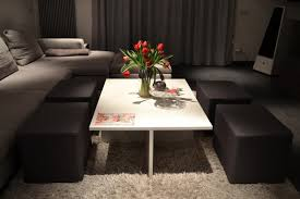 Design Coffee Table Simple Yet Clever Coffee Table Design With Integrated Chairs