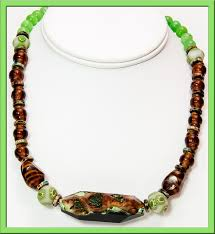 green agate necklace images 108 custom crystallized brown and green agate beaded necklace jpg