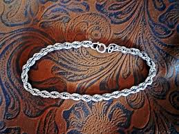 silver rope chain bracelet images Sterling silver rope chain bracelet by danecraft usa men or jpg