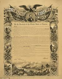 emancipation proclamation abraham lincoln s document to go on