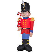 shop holiday living 16 01 ft x 3 51 ft lighted nutcracker