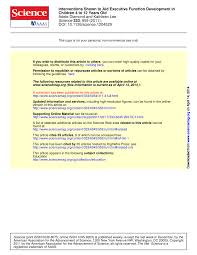 interventions and programs demonstrated to aid executive function