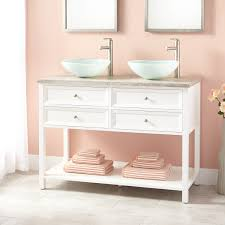 Bathroom Vanity With Makeup Area by White Double Sink Vanity Signature Hardware