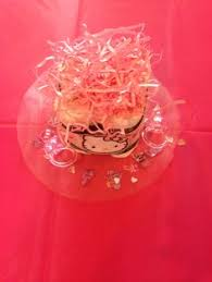kitty babyshower diaper cake mini centerpiece