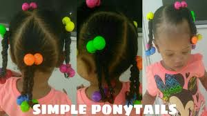 Little Girls Ponytail Hairstyles by Quick 10 Minute Hairstyle For Toddlers And Little Girls Simple