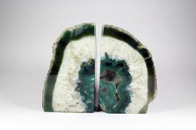 decor fill your home with unique agate bookends for decoration ideas