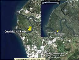 Guadalcanal Map Solomon Islands And Sea Level Rise