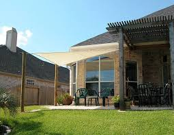 Small Patio Shade Ideas Brown Patio Shade Ideas Cement Patio