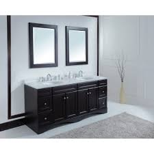 60 Inch Vanity Top Double Sink Double Bathroom Cabinets 48inch White Finish Solid Wood Double