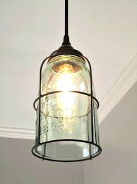 Farmhouse Pendant Lighting Farmhouse Pendant Lights Rustic Half Gallon Caged Mason Jar