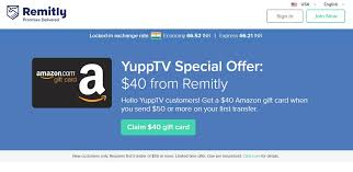 amazon gift card bonus black friday remitly yupptv special offer free 40 amazon gift card when you