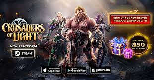 crusaders of light mmorpg mobile mmorpg crusaders of light is coming to steam with a new