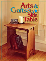 636 art and crafts style side table plans furniture plans