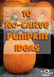 No Carve Pumpkin Decorating Ideas 10 Totally Easy No Carve Pumpkin Decorating Ideas Cafemom