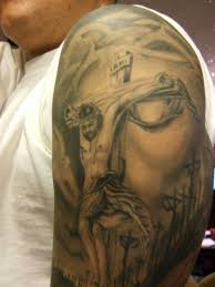 cross tattoos with jesus inside cross cool tattoos bonbaden