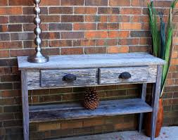 reclaimed wood entry table gray wood hallway table gray reclaimed sofa table wood console