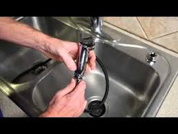 How To Replace A Kitchen Sink Faucet How To Change A Kitchen Sink Spray Youtube