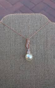 pearl necklace bridal jewelry images Bridal pearl necklace rose gold pearl drop bridal earrings jpg