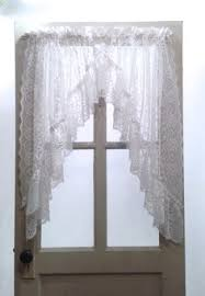 Victorian Swag Curtains Victorian White French Shabby Chic Lace Ruffled Valance