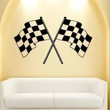 wall decal vinyl sticker decals checkered flag finish line racing wall decal vinyl sticker decals checkered flag finish line racing boy decor t55 3m
