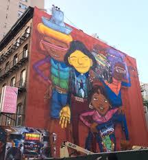 os gemeos break dancers double mural on west 14th street the os gemeos mural western face week of sept 23