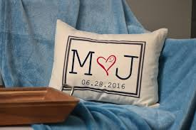 cotton anniversary gifts personalized handmade pillow two hearts are one cotton anniversary