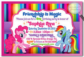 Mlp Birthday Card Rainbow Dash And Pinkie Pie My Little Pony Invitations Di 652