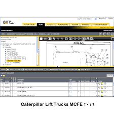 نرم افزار تعمیرات لیفتراک های کاترپیلار caterpillar lift trucks