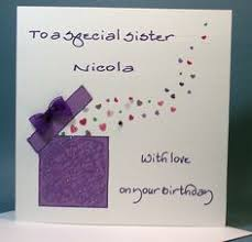 handmade birthday cards for sister google search interestin