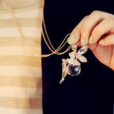 long butterfly necklace images 2016 fashion crystal angel wing long chain necklace shiny jpg