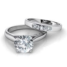 Engagement Rings And Wedding Band Sets by Round Cut Bridal Sets