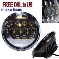 Jk Led Fog Lights Best New 7 Inch 75w Led Headlight W Driving Fog Lights For Jeep