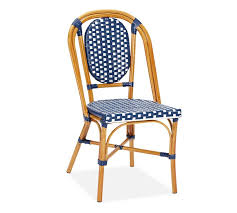 Blue Bistro Chairs Shell And Chinoiserie Seaside Style With An Eastern Accent