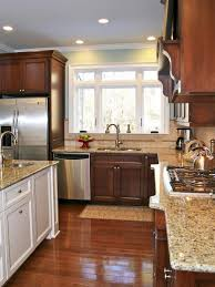 Cherry Cabinet Colors Kitchen Cabinetry Doesn U0027t Have To Match A Creamy White Island Is